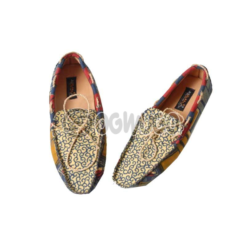 Ankara made Male shoe.