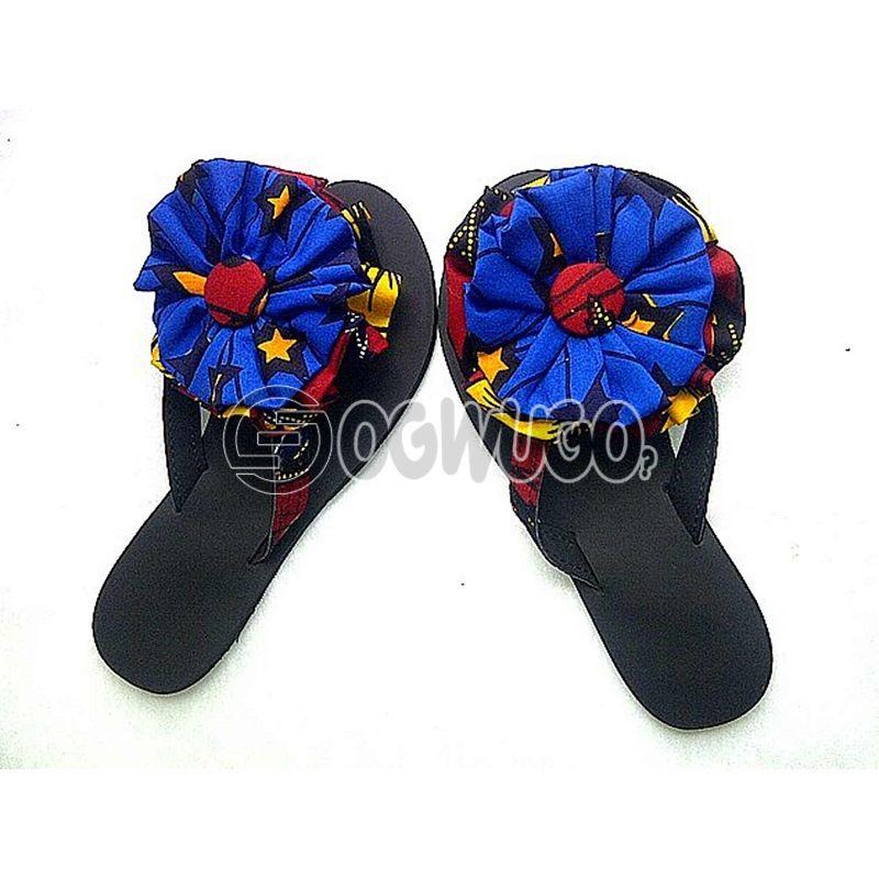 Ankara made female slippers