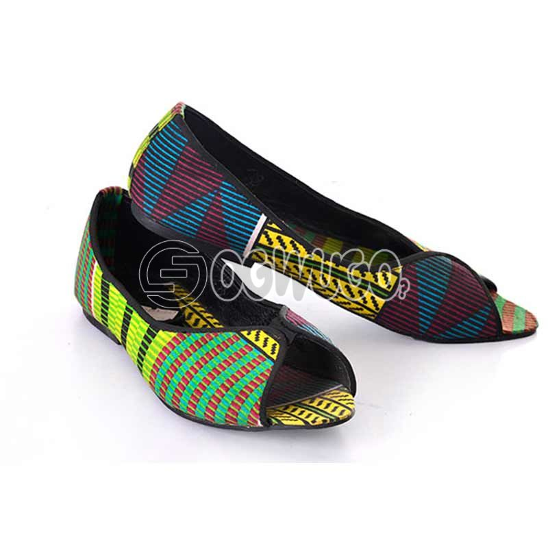 Ankara women Flat shoe