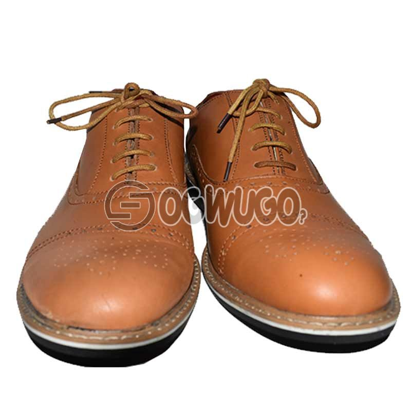 Brown Pointed-toe Corporate Male Shoe.