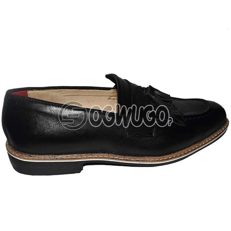 Mens Black Casual Leather Shoe.