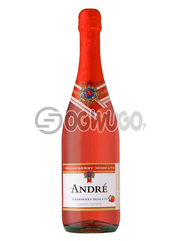 Andre Strawberry Moscato Sparkling Wine: unable to load image