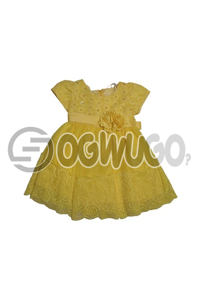 Carters(yellow)baby gown simply awesome worn for different event like church and birthday parties.: unable to load image