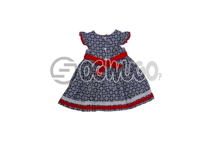 Flowered gymbolee Sweet lovely gown for your little daughter worn by kids between the ages of 0-3 months.: unable to load image