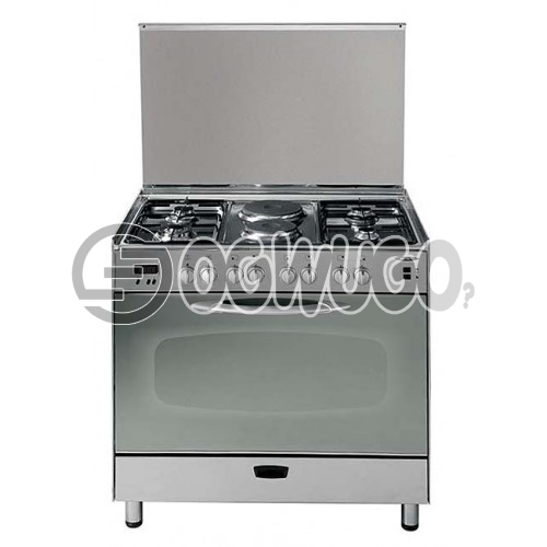 NEXUS GAS COOKER 4 + 2 GC-NX-8001SNEXUS GAS COOKER 4 + 2 GC-NX-5000S (four burners and two hot plate), Tempered Glass Lid and Glazed Oven window, Dish Warmer at the Botto, High quality steel body with Chrome finish: unable to load image