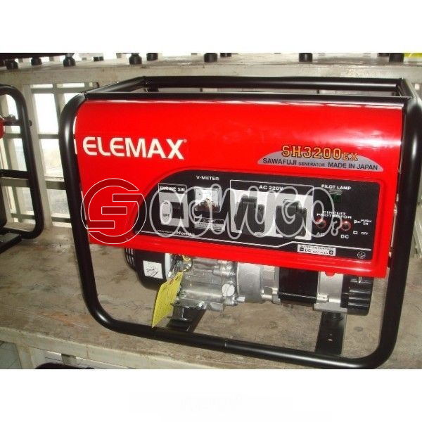Elemax Honda SH 3200EX Generator, MODEL: GX160 FUEL : PETROL OIL SAFETY: YES POWER: 5.5HP TANK CAPACITY: 17