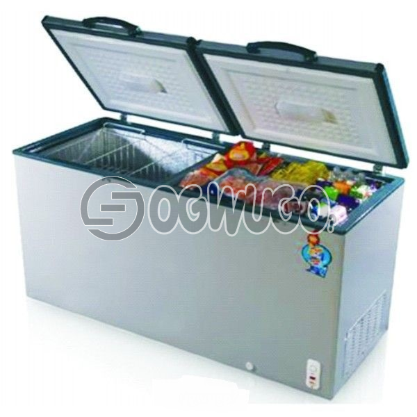 Scanfrost Deep freezer 411,  FULLY TROPICALISED ELECTRONIC ADJUSTABLE THERMOSTAT FAST FREEZING FUNCTION INTERIOR LED LIGHT LOCK AND KEY ENERGY SAVING TECHNOLOGY COMPRESSOR SWITCH OFF FUNCTION CFC-FREE FOAMING AGENT 2 PIECES OF REMOVABLE BASKET: unable to load image