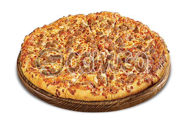 Beef Pizza (LARGE) Made with beef, onion, green pepper, hot pepper, tomatoes, cheese, sweet corn and tomato sauce.