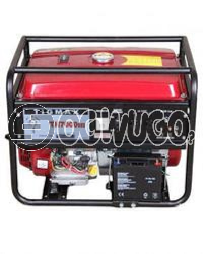 Tigmax Th7000dxe Elemax Face Gasoline Generator, Rated output(KVA): 5.0 Maximum output(KVA): 5.5 Rated voltage/frequency(V/Hz): 220/50 Rated current(A): 8.3 Power factor(COS): 1.0 Voltage adjust: AVR: unable to load image