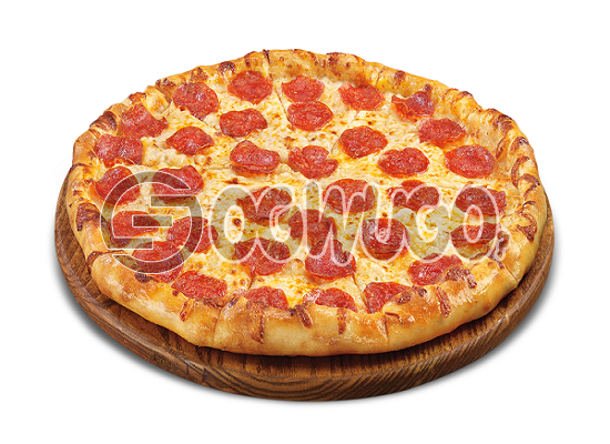 Pepperoni Pizza (MEDIUM) Made with Mushroom, Pepperoni, Sausage, Cheese and Tomato Sauce: unable to load image
