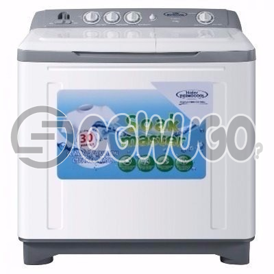 Haier Thermocool Washing Machine 8KG TLSA08 - White  wash and Spinning program: unable to load image