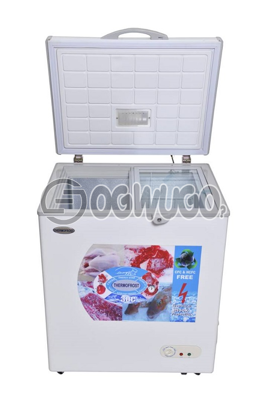 Thermofrost Freezer 250 liters New Innovation Super Fast Freezing..Low Energy Consumption Eurosonic Chest Deep Freezer,ant-rust Body,external Condenser, With High Efficiency Compressor, With Compressors Fan,: unable to load image