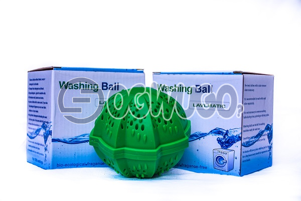 Two pieces of non-toxic Laundry ball or Washing ball, wash without detergent: unable to load image