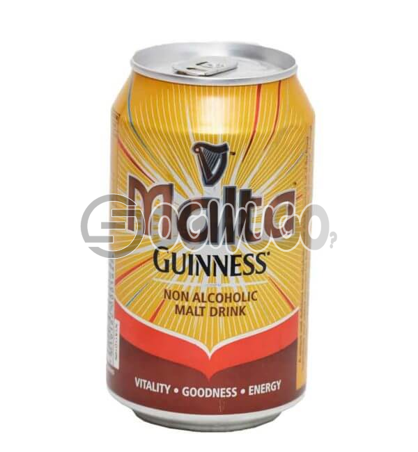 MALTA GUINNESS NON ALCOHOLIC CAN MALT DRINK WITH A 33CL PACK SIZE: unable to load image