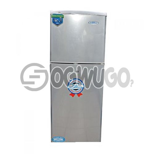 Haier Thermocool Double Door Fridge 180 Liters storage capacity Direct cooling technology  HRF-180EX - Silver
