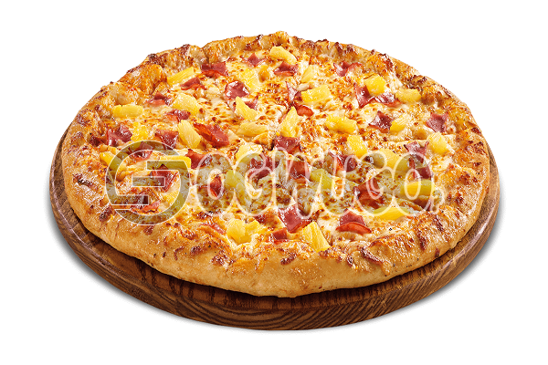 Hawaiian Pizza (MEDIUM) Made with Onion, Green Pepper, Ham and Pineapple ideal for Parties, Hangouts and Get together.