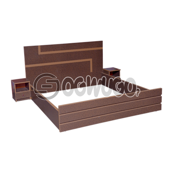 6X6 King size Bed Brown with Fine Wood, King size, Long lasting and Fun: unable to load image
