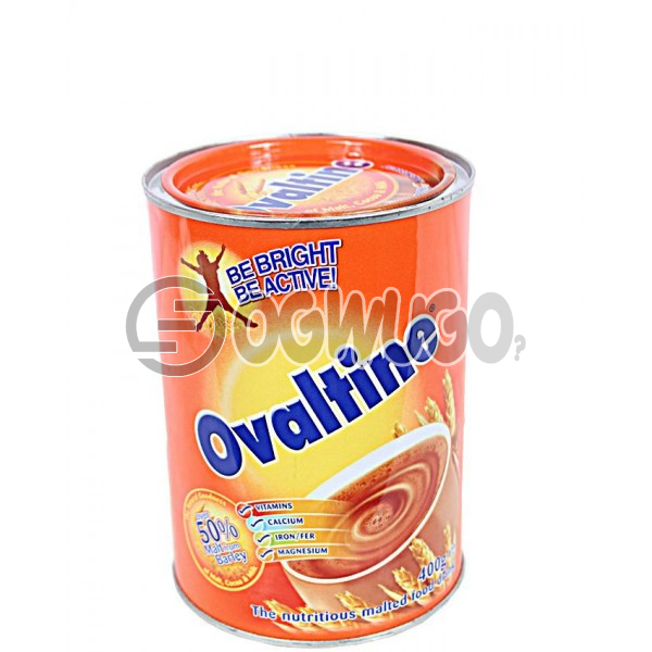 400 grams sweet, rich in chocolate, malt-extract and nourishing Ovaltine powdered tin size.