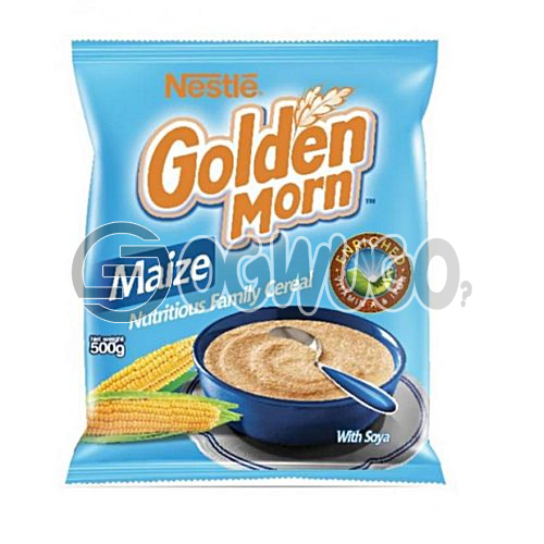 500 grams nutritious, delicious, whole grain Golden Morn cereal pack with essential nutients and vitamins.