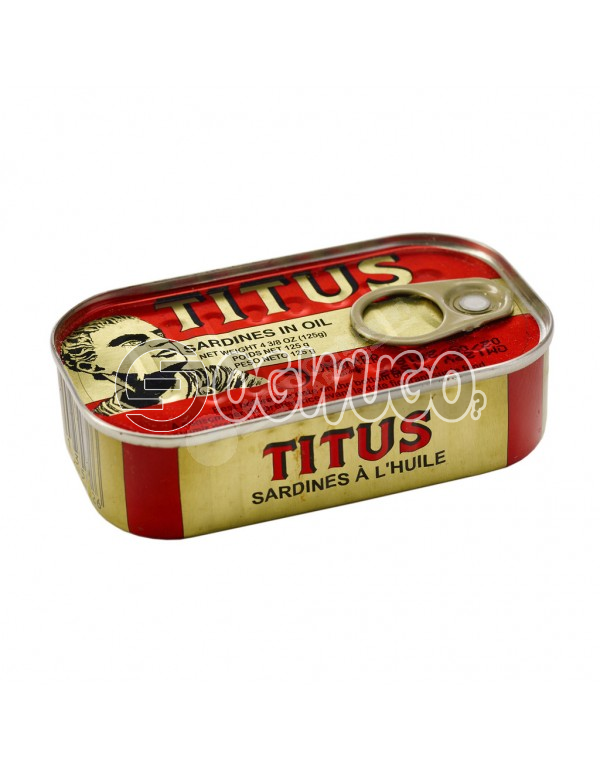 125 grams tightly sealed and tasty Titus Sardine, heavily rich in protein, vitamins and minerals.: unable to load image