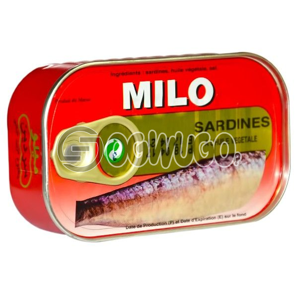 125 grams tightly sealed and tasty Milo Sardine, heavily rich in protein, vitamins and minerals.