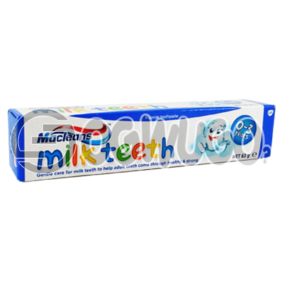 50ml Macleans Milk Teeth toothpaste for kid's healthy, strong white teeth and cavity protection.