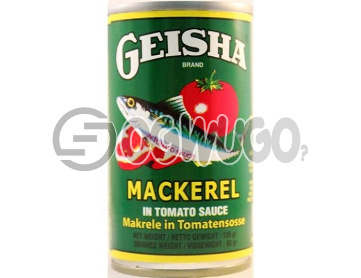 155 grams tightly sealed and tasty Geisha Mackerel in tomato sauce, heavily rich in omega3 and fatty acids. : unable to load image