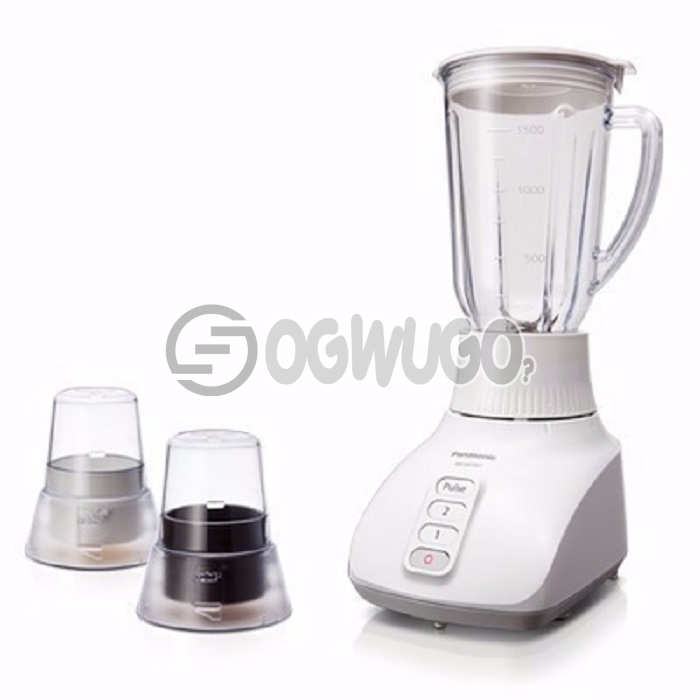 Panasonic blender mx-1521, features the Panasonic Saber Cutter with 2 Dry Mills for excellent blending: unable to load image