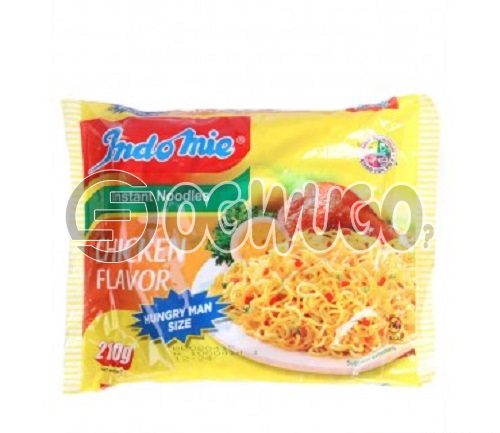 Hungry Man Size Chicken Flavour - Indomie size (210g) place your order now and it will be delivered to your doorstep as soon as possible.