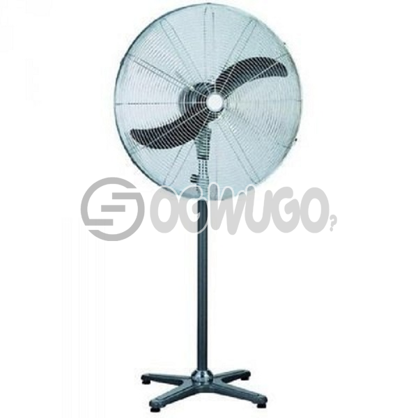 Ox Industrial Standing Fan - 26 Inches, 3 speed selector, High efficiency blades Silent and breezy