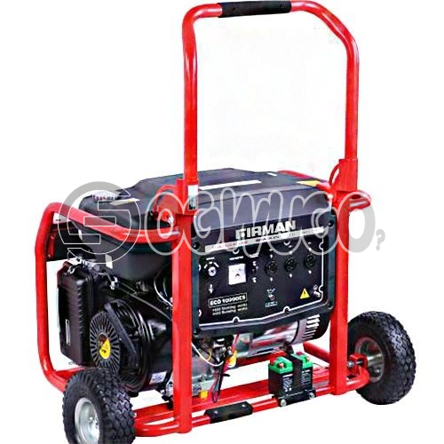 Firman ECO 10990ES,  7.5 gallon steel fuel tank (extra long runtime for up to 10 hrs at 50% load)  220-240v, 50Hz, 9800 starting watts  16HP OHV Engine  Electric Starting  USA Standard  100% Copper: unable to load image