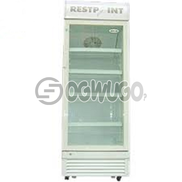 RestPoint ShowCase Cooler RP-480SC, Transparent double layers glass door, Ventilating cooling system,  Movable shelves for different requirement: unable to load image