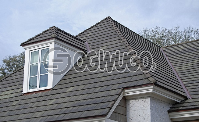 Roof Shingles ( Tile ) Stone coated  shingle roof tiles. Sold per Square Meter.: unable to load image