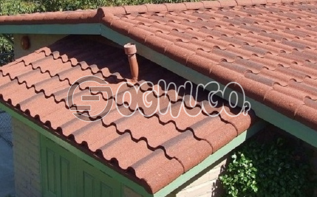 Rainbow Stone chip coated steel roof tiles. with unique designs Sold Per Square Meter.: unable to load image