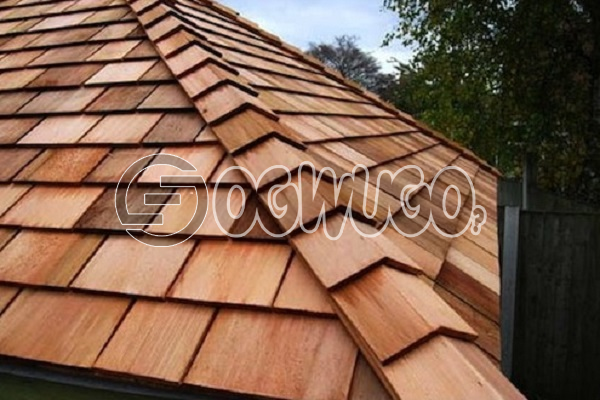Wood Tile Roofing. wood primarily used to cover roofs and walls, Sold per Square Meter.: unable to load image