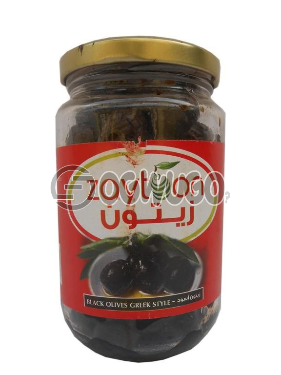 Zaytoon Black Olives, Greek Style