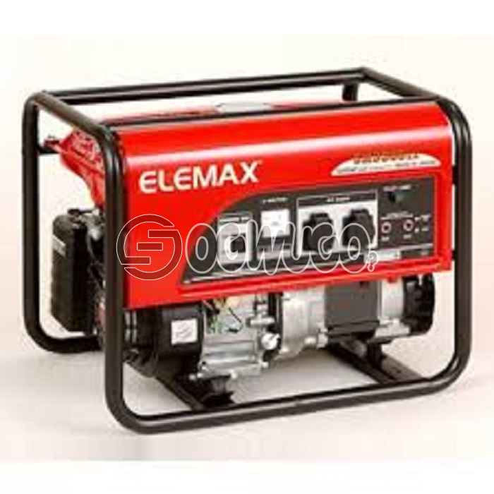 Elemax Honda 7600 Generator, Oil Alert System YES Starting System Recoil (OP; Electric) Others L x W x H (mm) 708 x 548 x 493 Dry Weight (kg) 75 78 Fuel Tank Capacity (liters) 28 Sound Level [dB(A)/7m] 50Hz 71 73 60Hz 75 76 Continuous Operating Hours (hr) 50Hz 10 8.5 60Hz 7.9 7.2