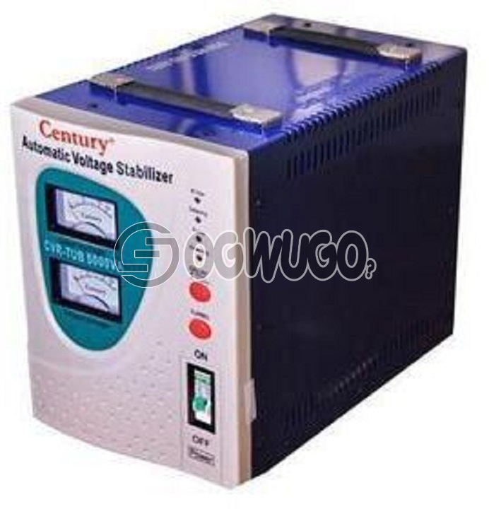 Century Century 5000W TUB 5KVA Stabilizer, 5000VA Capacity Stabilizer For very large chest freezers and Air conditioners (split units) Output: 230V, 50hz: unable to load image