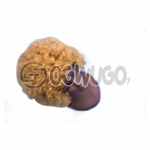 Afro Gold Wig avaable also in Black order takes two working day to be delivered from when you place order: unable to load image
