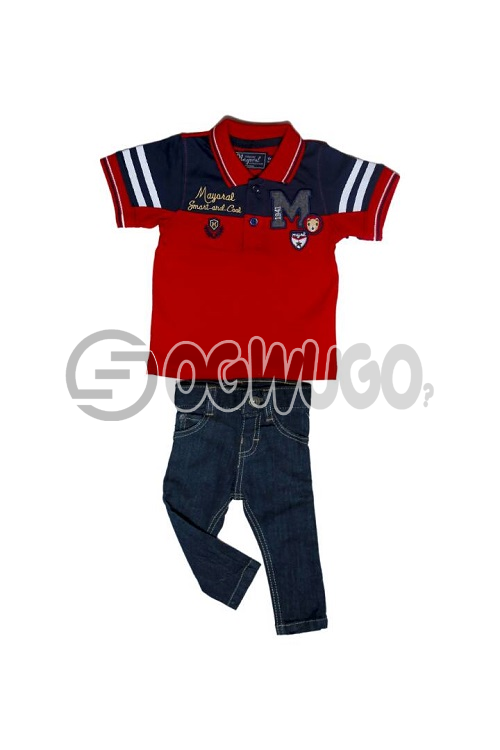 Mayora cloth for boys is worn with Pybb 1999 jean,The outfit is suitable for all event.: unable to load image