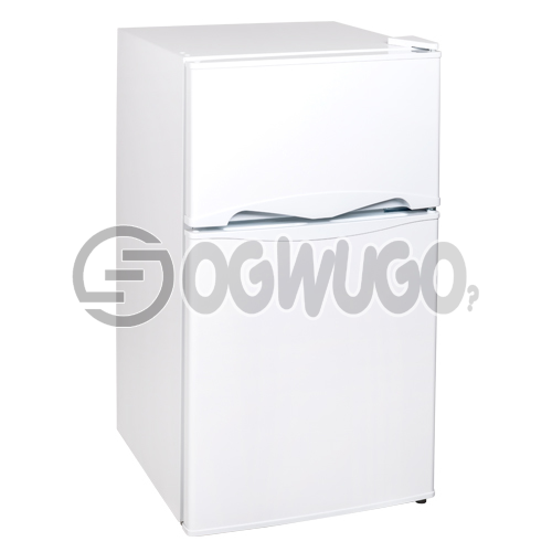 Thermofrost Fridge Model 96 Double Door. Interior Light, High Efficiency Compressor, Separate Chiller Compartment, and Mechanical Temperature Control: unable to load image