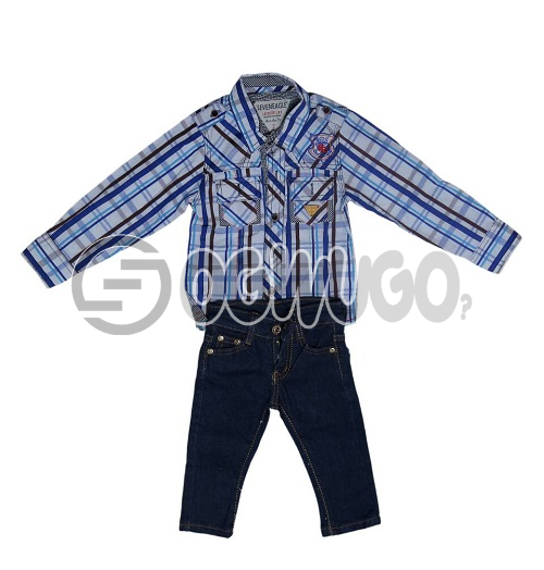 F&S Jean+Seven eagle printed for boys.The F&S is a designer that is worn throughout the world.They are popularly known for their unique style and readiness to production: unable to load image