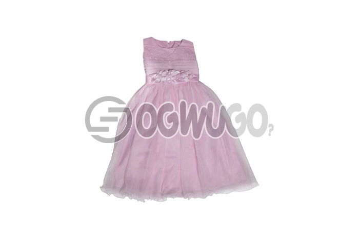 Pink gown very nice fashion sense worn by lovely baby girl between the ages of 5-7years: unable to load image