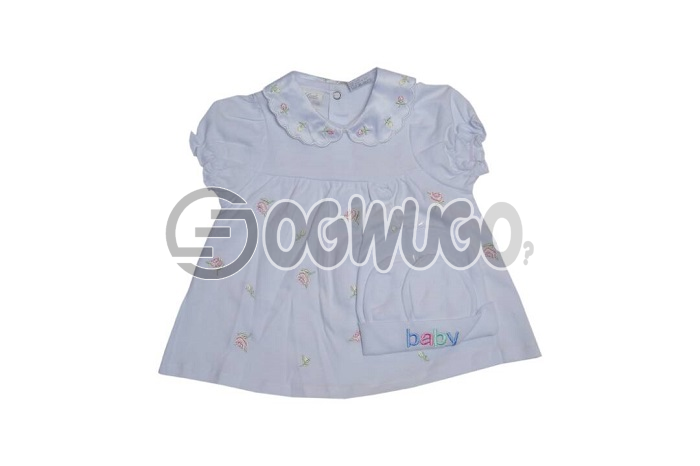Little wonders(white)0-3 months lovely dress. Sweet lovely gown for your little daughter.: unable to load image