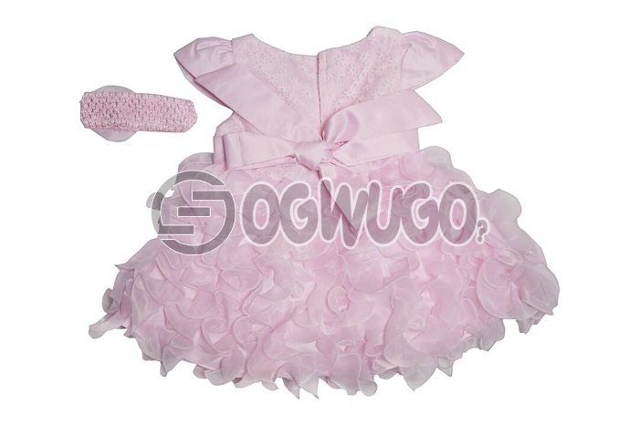 Sweetheart baby gown with hair band specially for your lovely daughters for their birthday and thanksgiving.: unable to load image