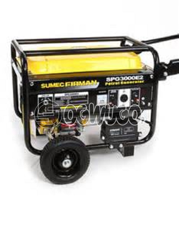 Firman SPG3000M, with (Wheels), Model: SPG3000, DC Output (12V/8.3A): Yes, Wheel & Handle Kit: Option Noise Level@7m: 68dB(A)