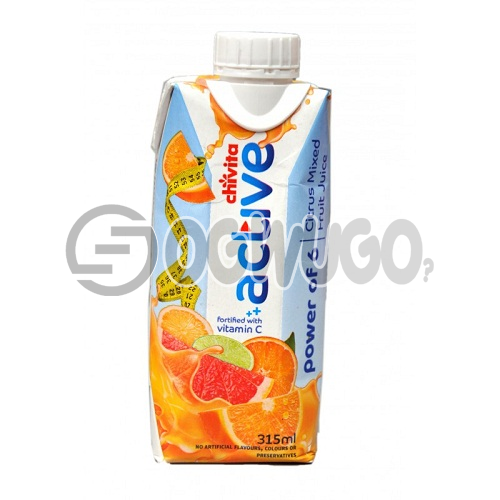 MEDIUM- SMALL CHIVITA ACTIVE JUICE POWER OF 6 CITRUS MIXED FRUIT  JUICE 315ML PACK SIZE: unable to load image