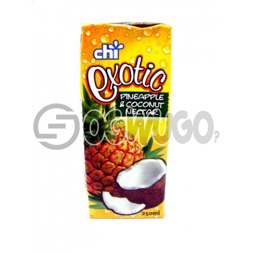 MEDIUM- SMALL CHIVITA EXOTIC PINEAPPLE AND COCONUT NECTAR with a  315ML PACK SIZE