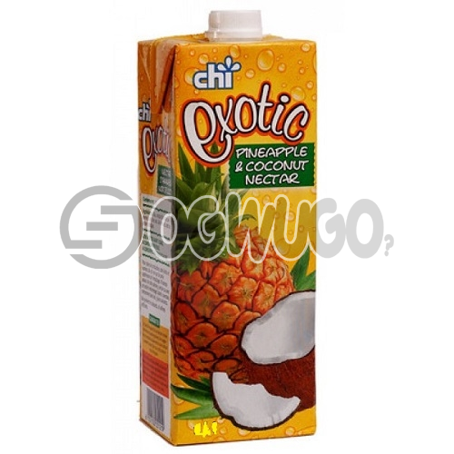BIG CHI EXOTIC JUICE PINEAPPLE AND COCONUT NECTAR 1 LITER PACK SIZE WITH A