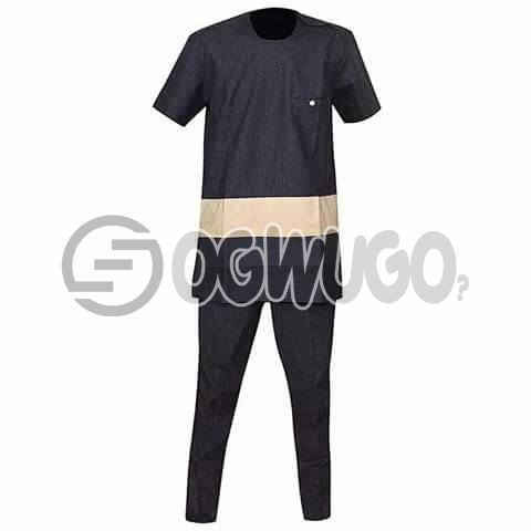 Oyenx Senator Mixed Color Design top and trouser. This takes  6 working days to be delivered (If your size is extra large, it will attract an additional N500): unable to load image